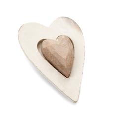 coeur en bois beige
