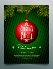 Christmas party flyer template - 8.5x11 inches