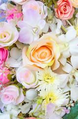 Fake rose  blossom flower