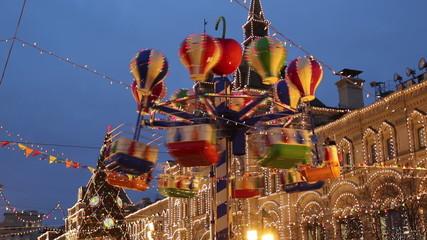 The carousel at the Christmas fair