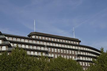 Seitenansicht des Chilehauses in Hamburg, Deutschland