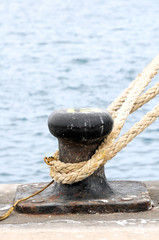 Rusty Mooring on a Pier