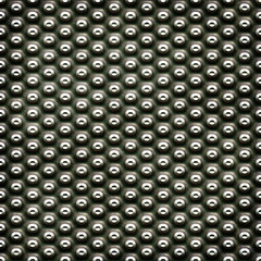 Metal plate with dots