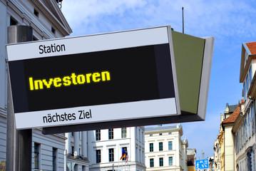 Strassenschild 27 - Investoren
