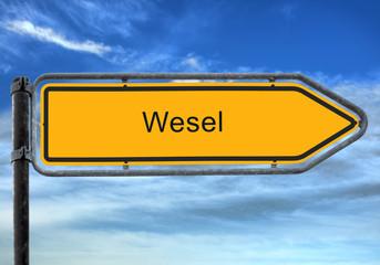Strassenschild 26 - Wesel