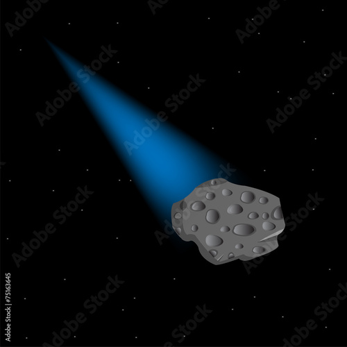 Asteroid in cosmos