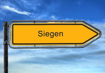 Strassenschild 26 - Siegen