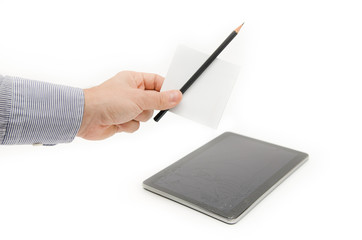 Paper notes and a pencil as an alternative to new technology