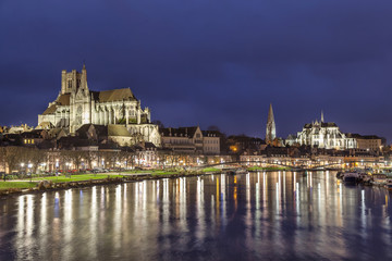 Cathedral and Abbey in Auxerre, France