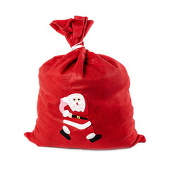 Santa Claus red bag