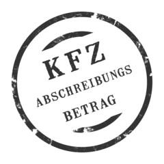 sk276 - KFZ-Stempel - Kfz Abschreibungsbetrag kfz37 g2764