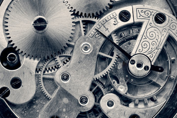 vintage clock machinery,retro photo