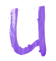 Letter made with the paint strokes