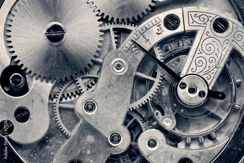 canvas print picture vintage clock machinery,retro photo