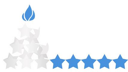 Arbol de stars blue