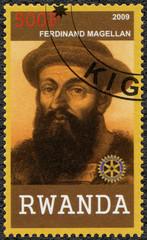 RWANDA - 2009: shows portrait of Ferdinand Magellan (1480-1521)