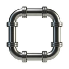 Looped metal pipe