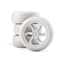 Blank white tires