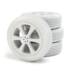White tires