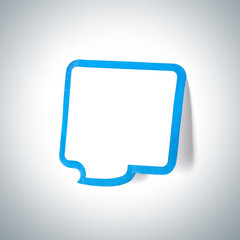 Speech bubble sticky notes. With radial gradient background.