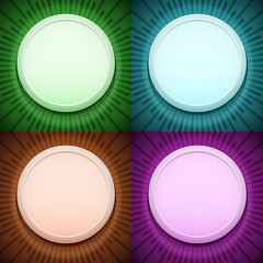 Vector frame on ray background