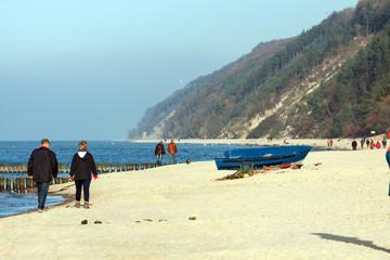 Wolin National Park on the Baltic Sea near Miedzyzdroje in Polan
