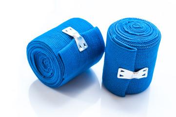 roll of elastic wrap bandage on white background