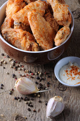 fried chicken wings fried