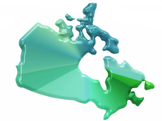 Map of Canada in 3d style