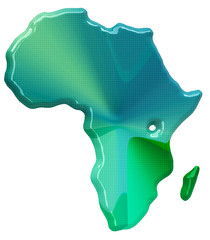 Map of Africa in 3d style