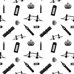 london sights seamless pattern