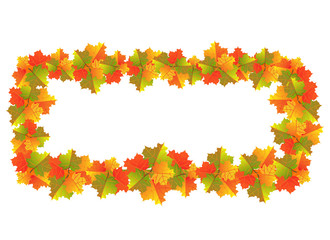 Autumn Maple Leaves Banner