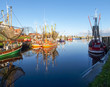Greetsiel, fishing boats. - 75171669