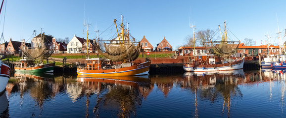 Greetsiel, fishing boats.