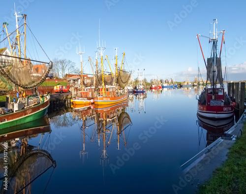 Greetsiel, fishing boats.