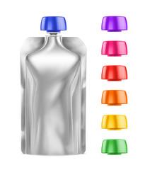 White Blank Doy-pack, Doypack Foil Food Or Drink Bag Packaging