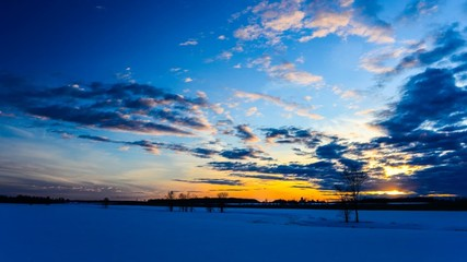 Country Winter Sunset