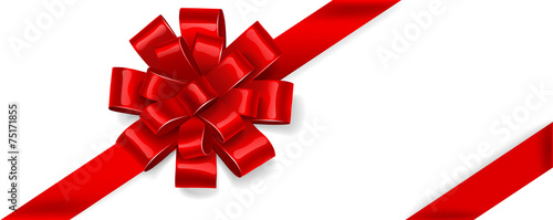 Red bow. Vector - 75171855