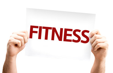Fitness card isolated on white background