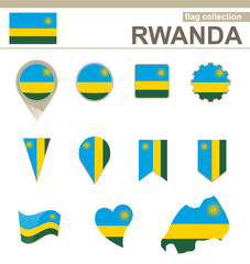 Rwanda Flag Collection