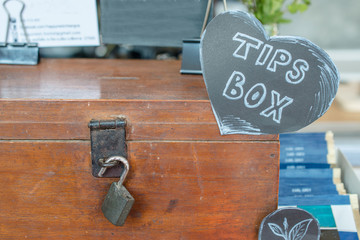 The tips box with the key lock