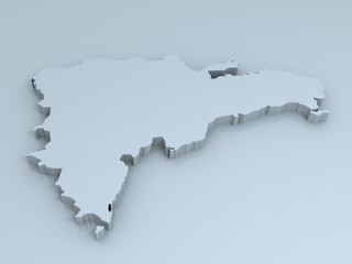 dominican republic 3D map