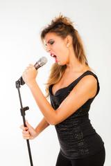 Rock girl singing