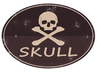 Skull Totenkopf Logo Patch Emblem Retro Vintage