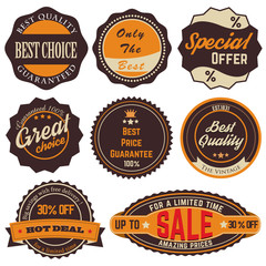 Vintage Sale Stickers 01
