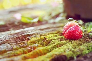 Strawberry fresh on the background - fruits.