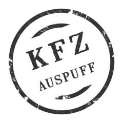 sk313 - KFZ-Stempel - Kfz Auspuff kfz74 g2801