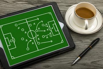 soccer tactics concept