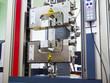 Leinwandbild Motiv engineering testing machine, tensile strength test