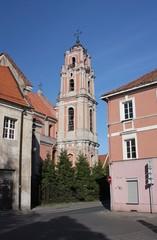 The bell tower in Vilnius